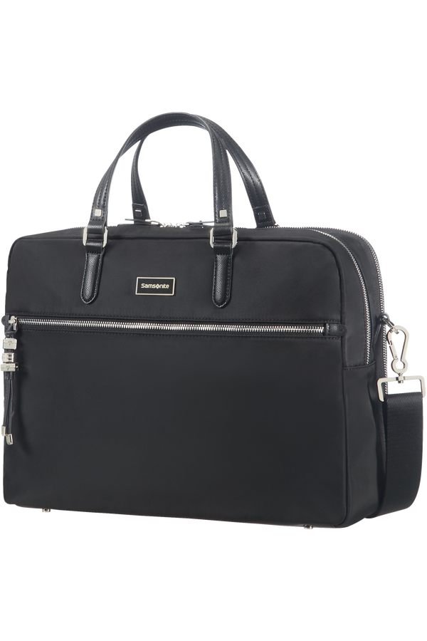 Samsonite Karissa Biz Bailhandle with 2 Compartments  15.6inch Schwarz