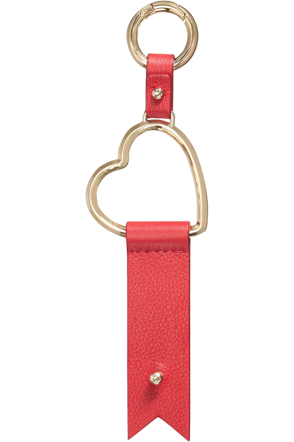 Samsonite Lady Charmy Heart Key Ring  Rot
