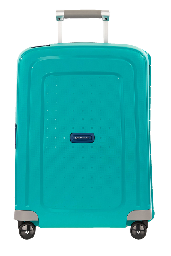 Samsonite S'Cure Spinner 55cm Aqua Blue/Dark Blue