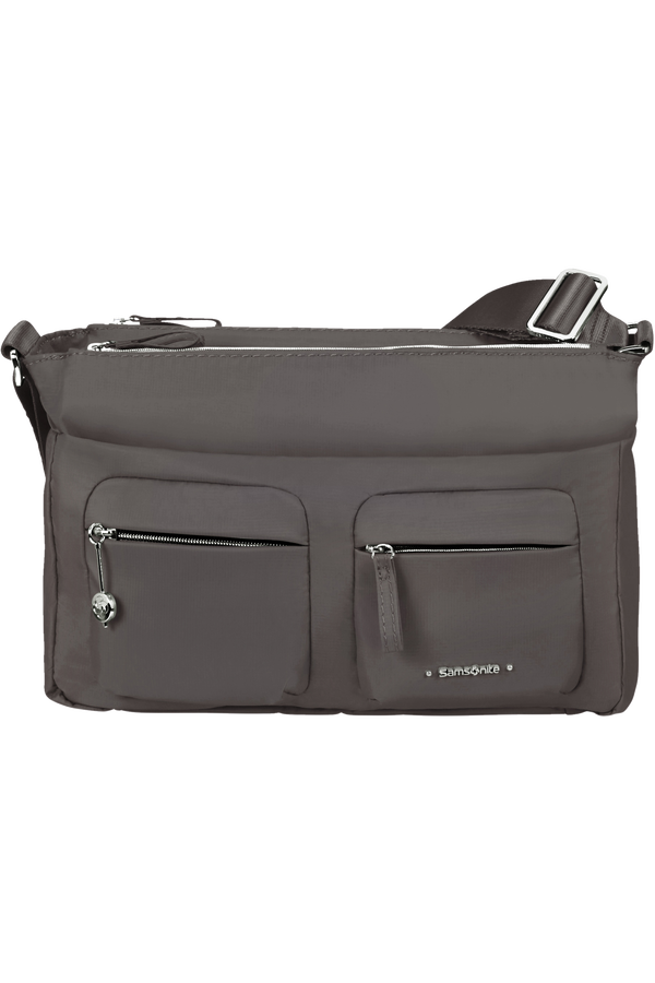 Samsonite Move 3.0 Horizontal Shoulder Bag + Flap  Gris foncé