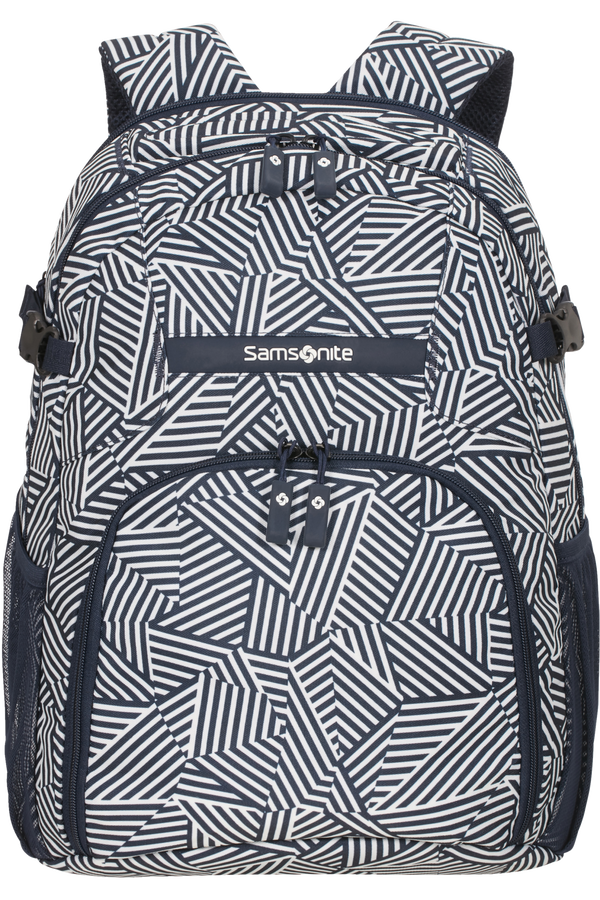 Samsonite Rewind Laptop Backpack M  Navy Blue Stripes