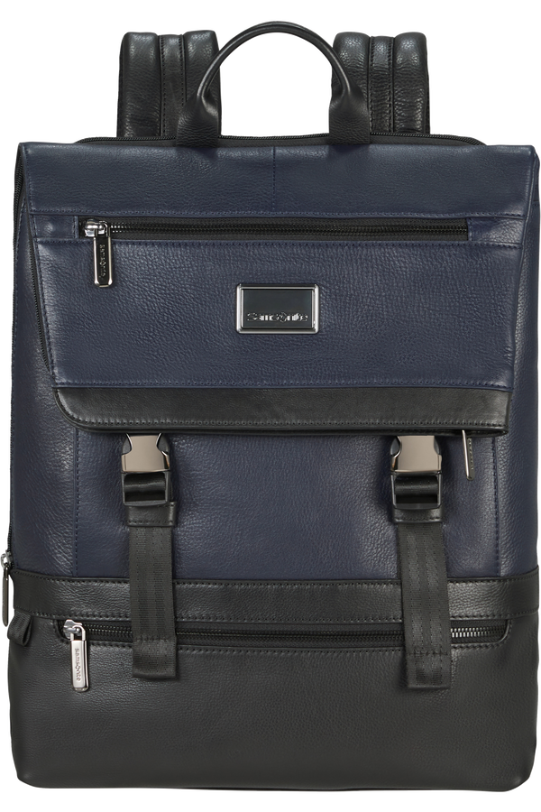 Samsonite Waymore Lth Laptop Backpack Flap Slim  15.6inch Bleu