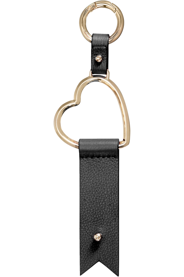 Samsonite Lady Charmy Heart Key Ring  Noir