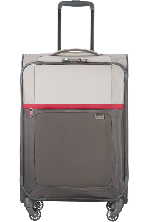 Samsonite Uplite Spinner extensible 67cm  Pearl/Red/Grey