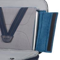 Anpassbares Perfect Fit™-Laptopfach passend für fast alle Laptop-Größen (an den meisten Businesstaschen).