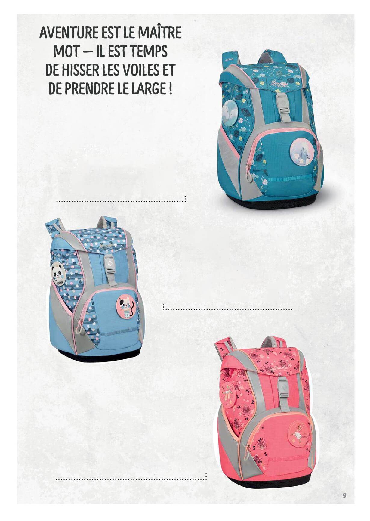 Chaque sac est unique comme chaque enfant qui le porte - Aventure est le maître mot – il est temps de hisser les voiles et de prendre le large !