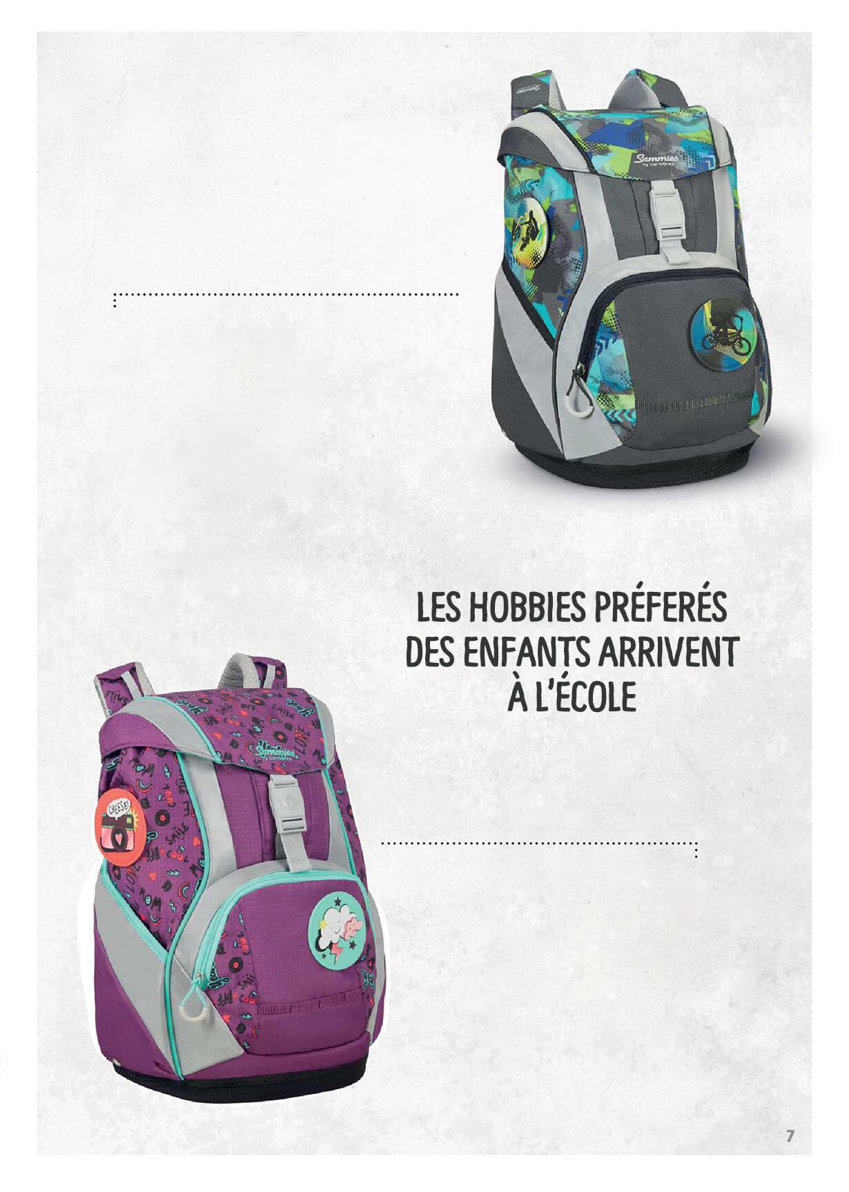 Chaque sac est unique comme chaque enfant qui le porte - Les hobbies préferés des enfants arrivent à l'école