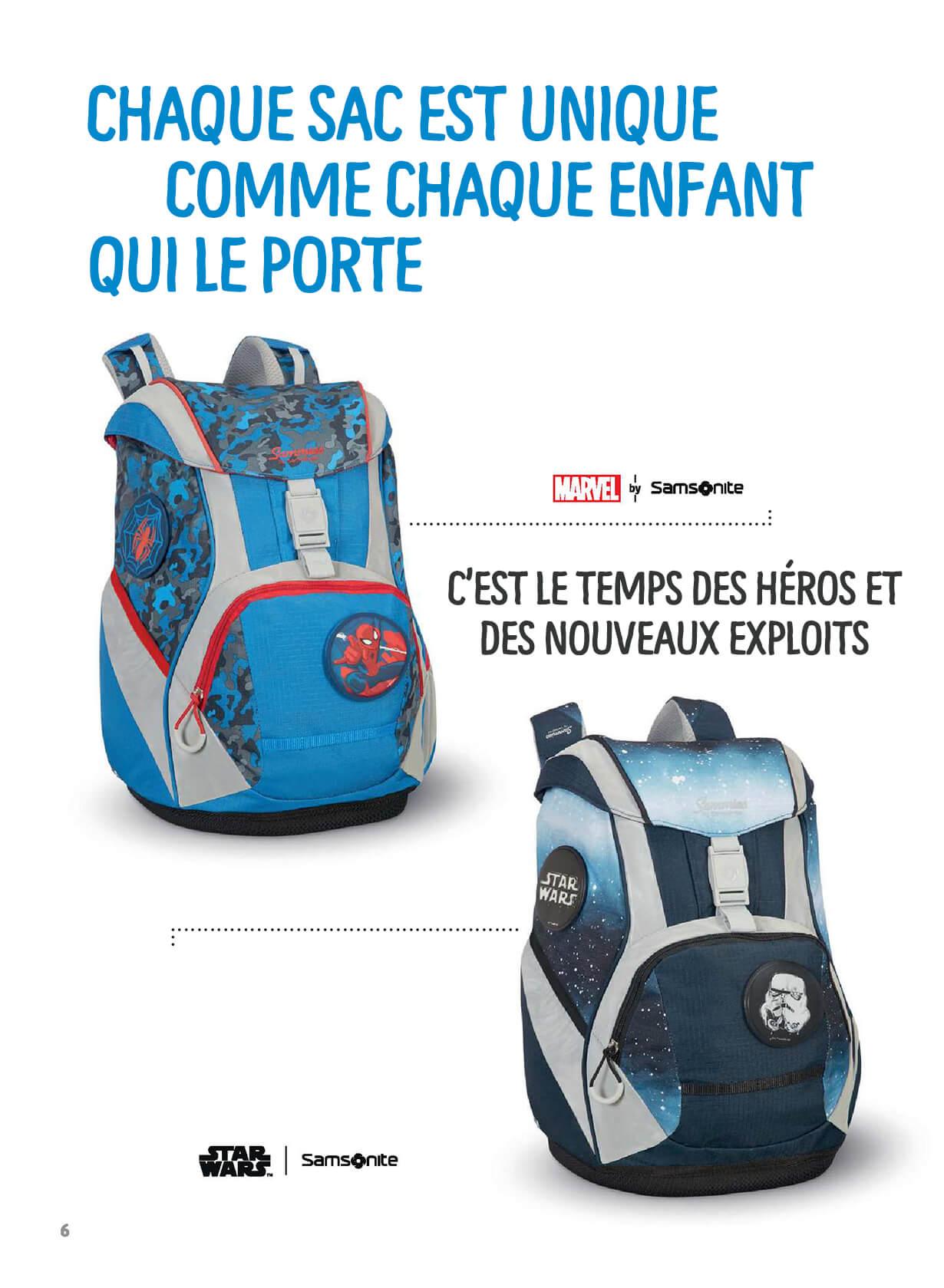 Chaque sac est unique comme chaque enfant qui le porte - C'est le temps des héros et des nouveaux exploits.