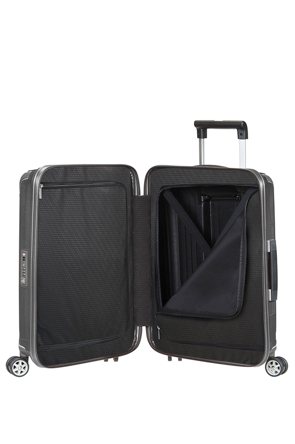 lite box trolley mit 4 rollen 55cm samsonite. Black Bedroom Furniture Sets. Home Design Ideas